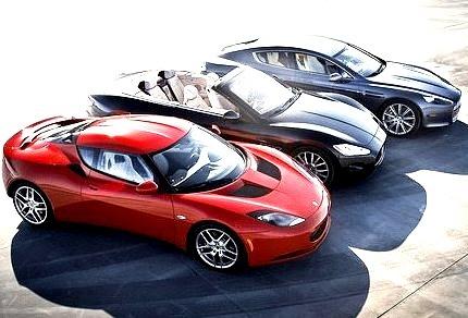Lotus Evora, Maserati Grancabrio and Aston Martin Rapide